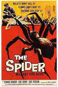 Earth vs the Spider (1958) Movie Poster