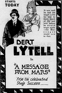 Message From Mars, A (1921) Movie Poster