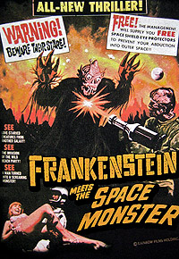 Frankenstein Meets the Spacemonster (1965) Movie Poster