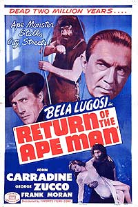 Return of the Ape Man (1944) Movie Poster